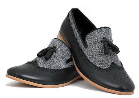 Black & Grey Two Tone Loafers