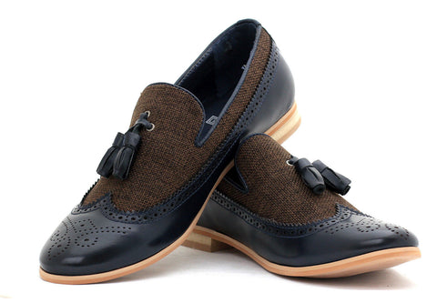 Navy Two Tone Loafers