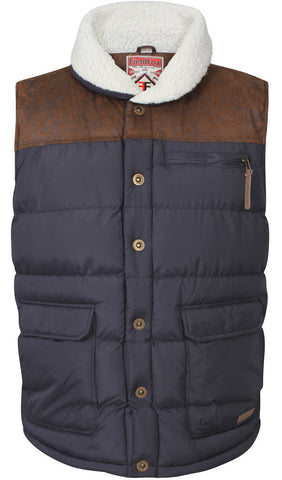 Navy Padded Hunting Gilet