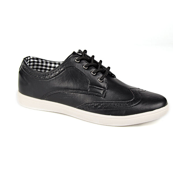 Black Brogue Detail Trainers