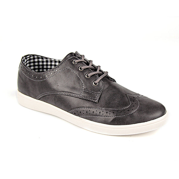 Grey Brogue Detail Trainers