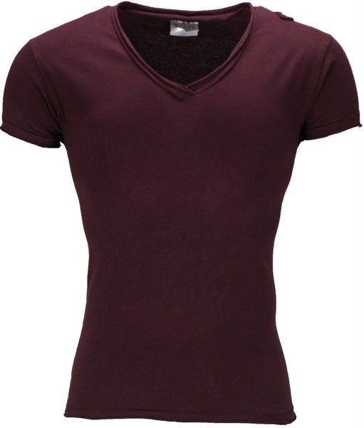 Distressed Burgundy T-Shirt