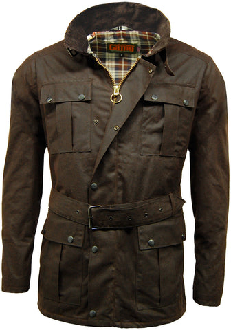 Brown Squire Belted Wax Jacket