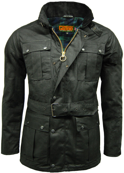 Black Squire Belted Wax Jacket