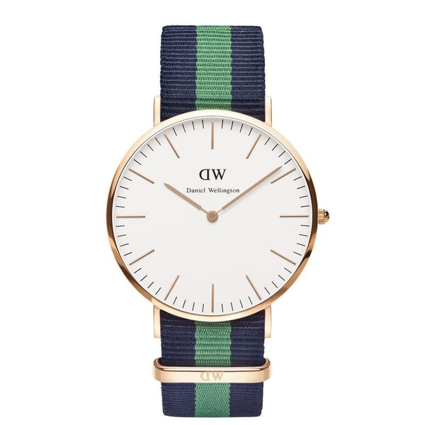 Green & Navy Strap Daniel Wellington Watch