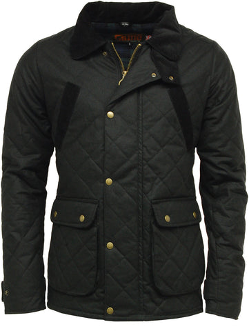 Black Oxford Quilted Wax Jacket