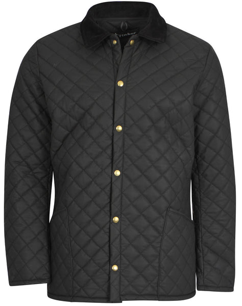 Matte Black Diamond Quilted Jacket