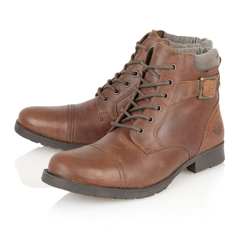 Brown Leather Military Styled Boot