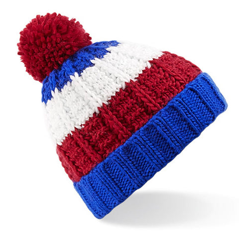 Blue/Red/White Winter Beanie