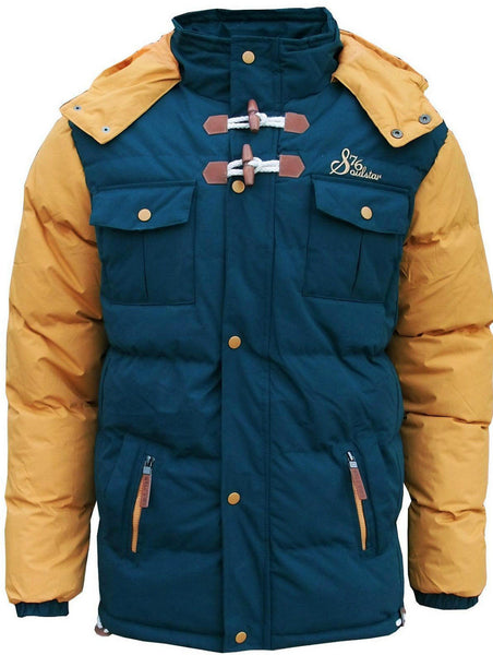 Two Tone Padded Puffer Parka Jacket Coat
