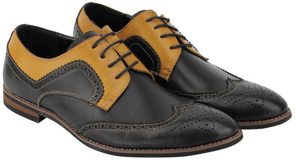 Black Two Tone Brogues