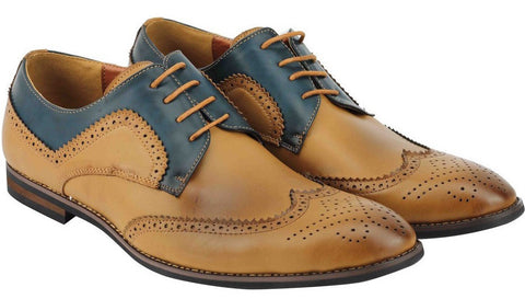 Brown Two Tone Brogues