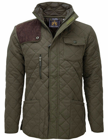 Olive Quilted Wax Jacket