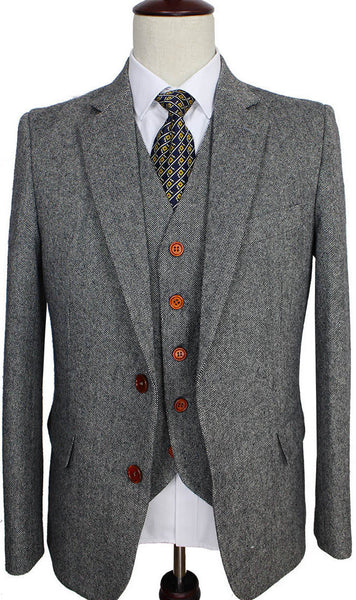 Light Grey Tweed Suit