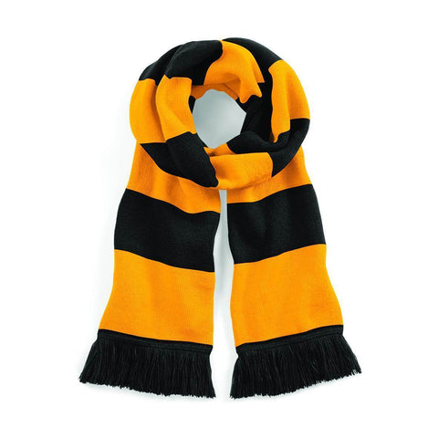 Black & Gold Striped Scarf