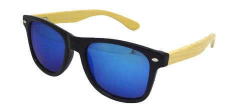Bamboo Blue Mirror Wayfarer Sunglasses