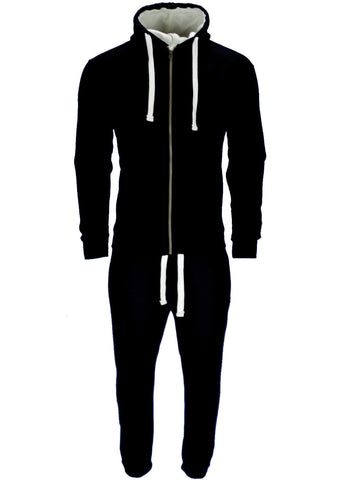 Black Hooded Fleece Top & Bottoms