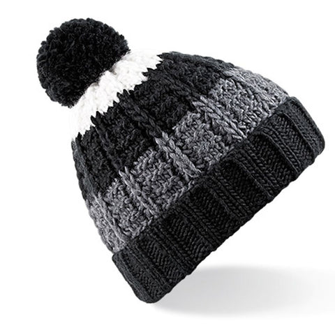Black/Graphite/White Winter Beanie