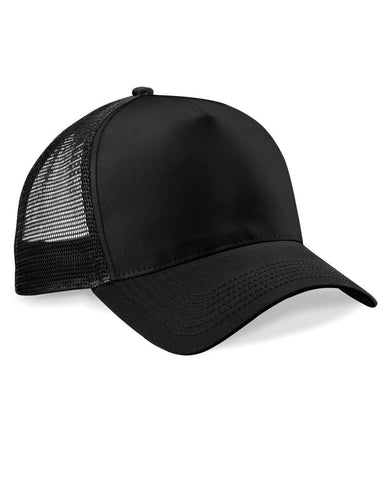 Black Trucker Baseball Cap