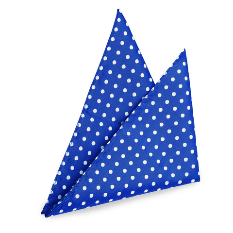 Brilliant Blue Dotted Pocket Square