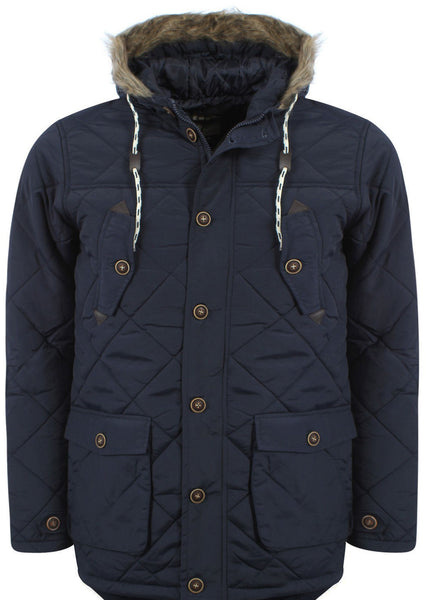 Navy Padded Parka Coat