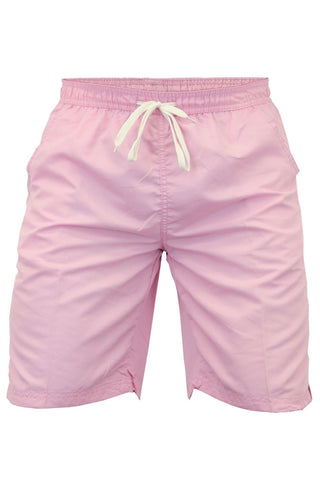 Pink Knee Length Swimming Shorts