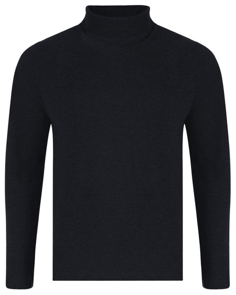 Black Cotton Turtle Neck