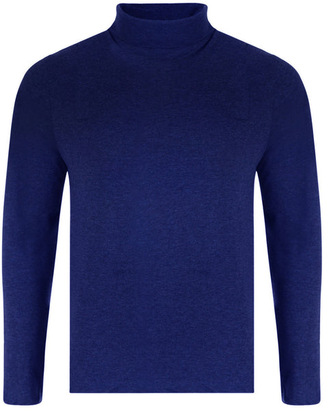 Navy Cotton Turtle Neck