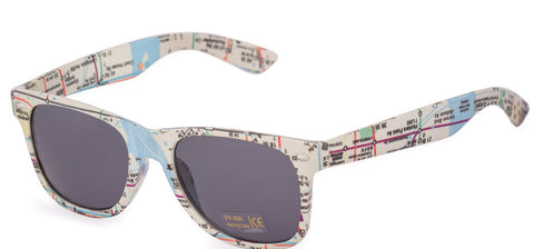 Map Effect Wayfarer Sunglasses