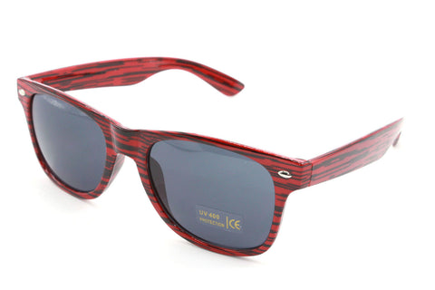 Red Stripe Wayfarer Sunglasses