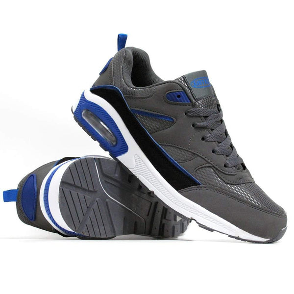 Grey & Blue Harlem Trainers