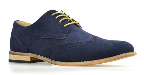 Waverly Navy Suede Brogues