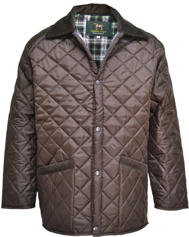 Brown Diamond Quilted Jacket