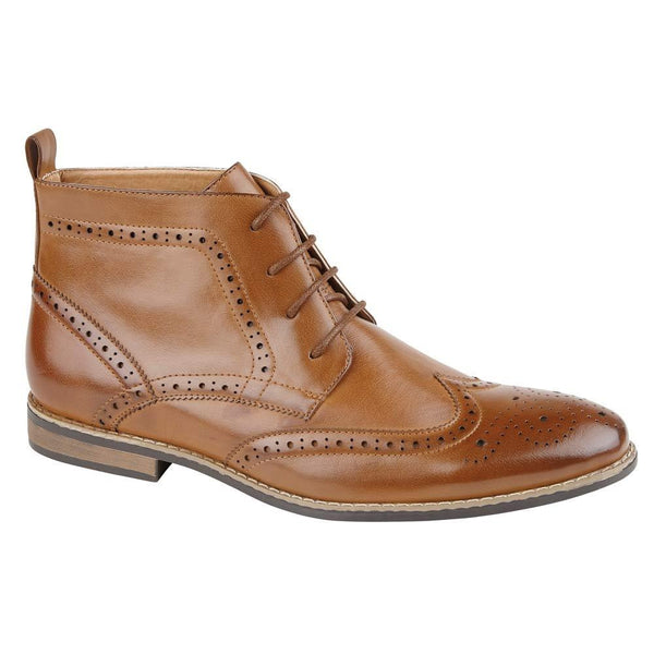 Brown Brogue Ankle Boots