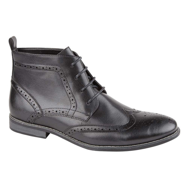 Black Brogue Ankle Boots