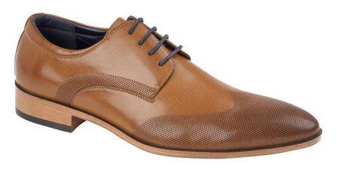 Tan Patterned Oxford Shoes