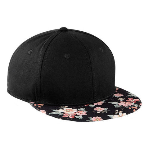 Faded Floral Snapback