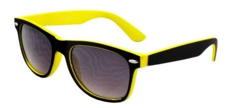 Black & Yellow Wayfarer Sunglasses