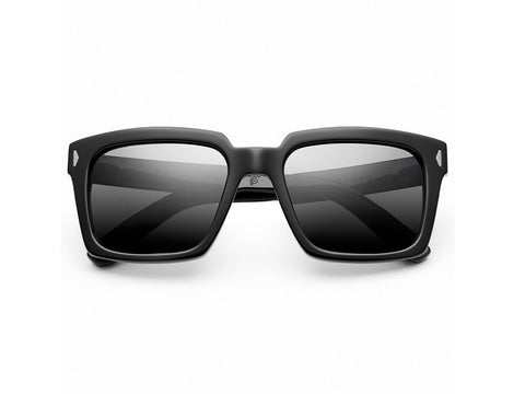 IVI Lee |  Polished Black | Grey Polarized - Man Cave - 1