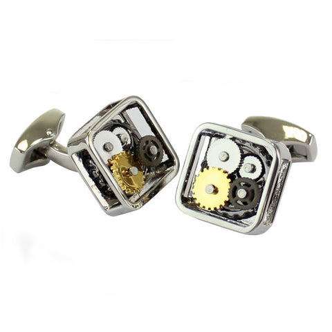 The British Belt | Square Watch Gunmetal Cufflinks - Man Cave