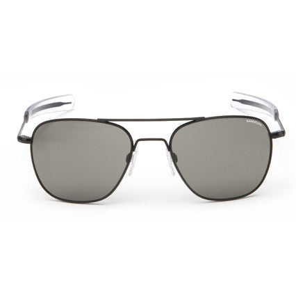 Aviator Matte Black | Gray Polarized Glass Bayonet 55mm - Man Cave - 1