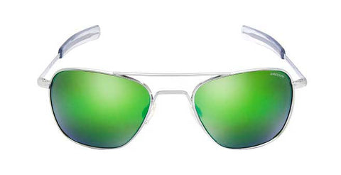 Aviator Bright Chrome | Green Flash Mirror Bayonet 55mm - Man Cave - 1