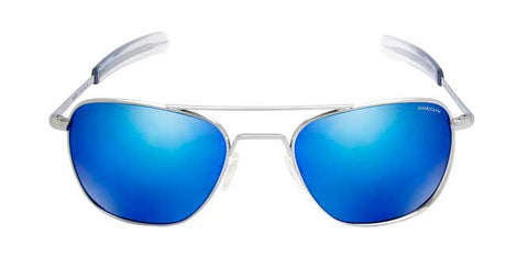 Aviator Bright Chrome | Blue Flash Mirror Bayonet 55mm