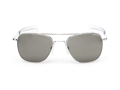 Randolph Engineering | Aviator Bright Chrome | Gray Polarized Glass Bayonet 58mm - Man Cave - 1