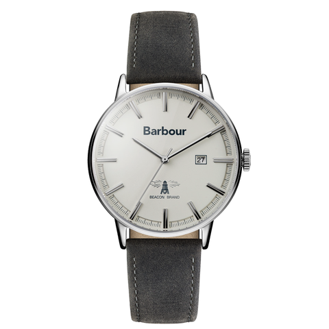 Barbour - Whitburn Men's Wrist Watch, Grey Band - Man Cave