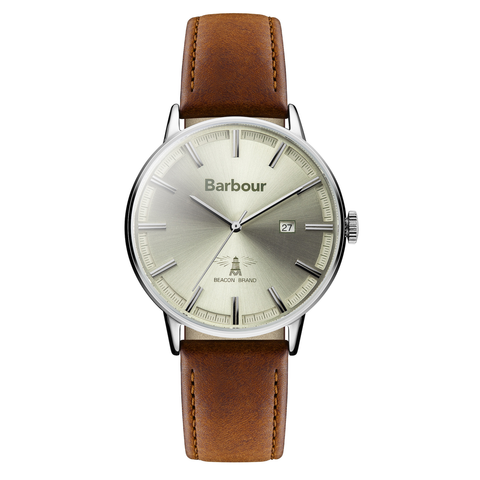 Barbour - Whitburn Men's Wrist Watch, Brown Band - Man Cave