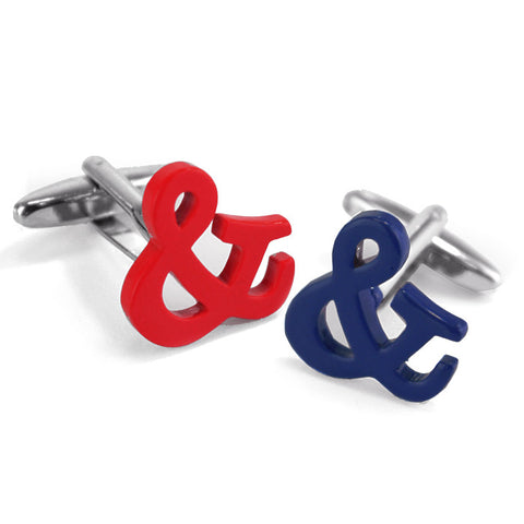 Red & Blue Signs Cufflinks - Man Cave