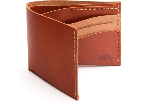 Bison |  No.8 Wallet | Cognac - Man Cave