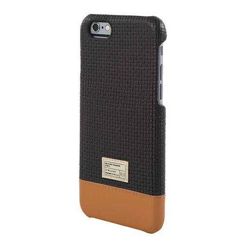 Black Woven Leather Focus Case for iPhone 6S - Man Cave - 1