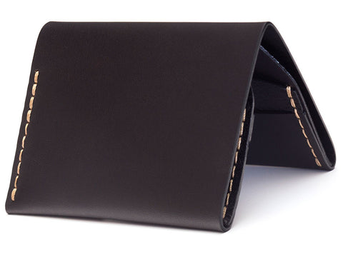 Bison | No.4 Wallet | Jet Top Stitch - Man Cave
